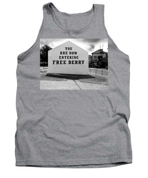 Tank Top featuring the photograph Free Derry Corner by Nina Ficur Feenan