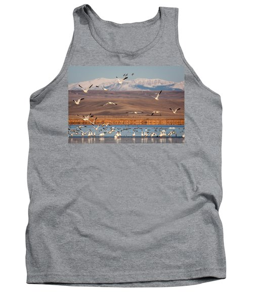 Tank Top featuring the photograph Freeze Out Lake Morning by Jack Bell