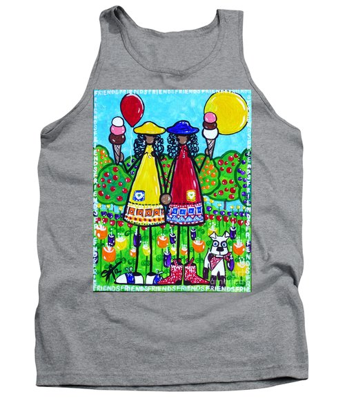 Tank Top featuring the painting Friends by Jackie Carpenter