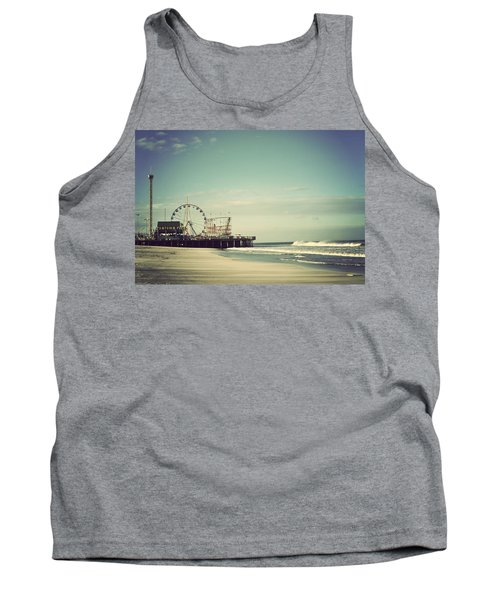 Funtown Pier Seaside Heights New Jersey Vintage Tank Top by Terry DeLuco
