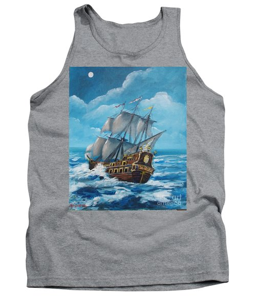 Galleon At Night Tank Top