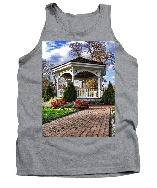 Tank Top featuring the photograph Gazebo At Olmsted Falls - 3 by Mark Madere