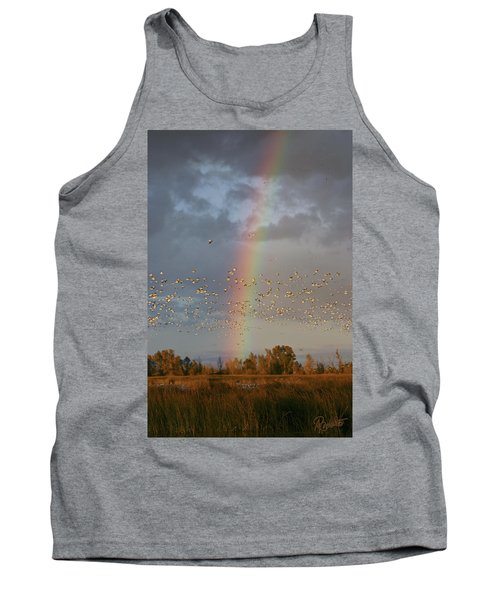 Geese And Rainbow Tank Top
