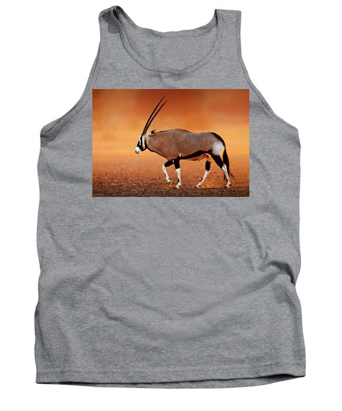 Gemsbok On Desert Plains At Sunset Tank Top