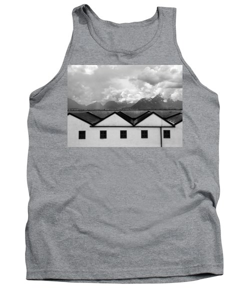 Geometric Architecture In Black And White Tank Top by Brooke T Ryan