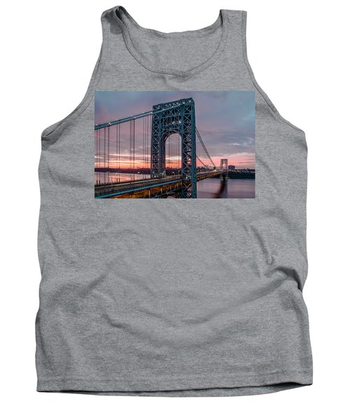 George Washington Bridge At Twilight Tank Top