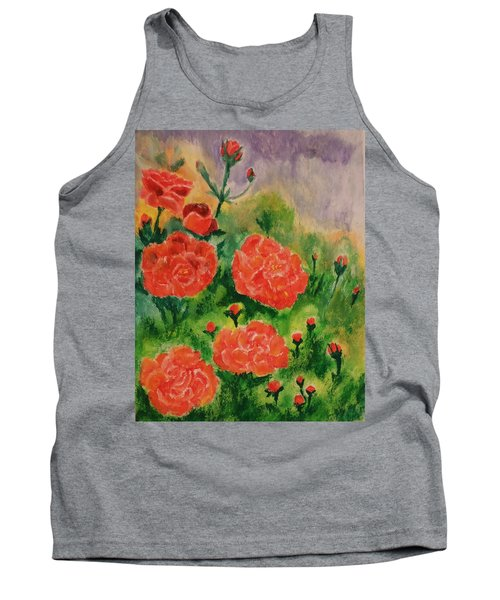 Tank Top featuring the painting Geraniums by Christy Saunders Church