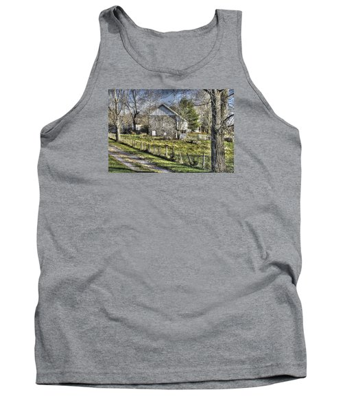 Tank Top featuring the photograph Gettysburg At Rest - Sarah Patterson Farm Field Hospital Muted by Michael Mazaika