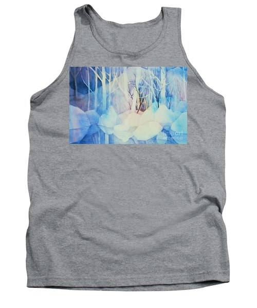 Tank Top featuring the painting Ghost Forest by Teresa Ascone