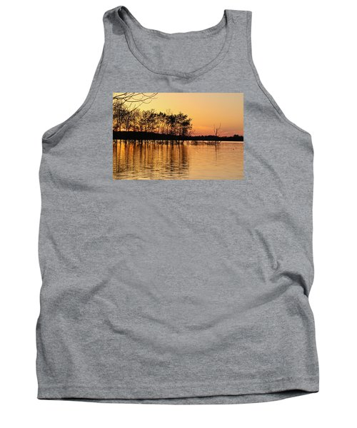 Tank Top featuring the photograph Gilded Sunset by Julie Andel