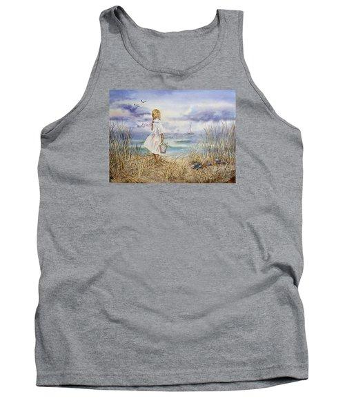 Girl At The Ocean Tank Top