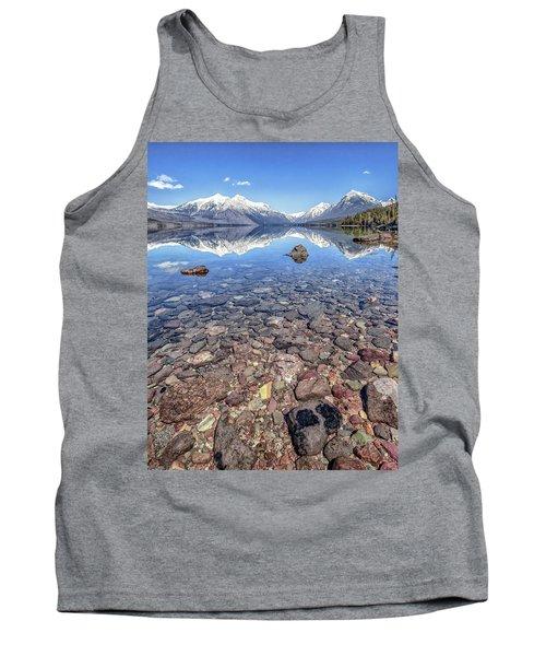 Glacial Lake Mcdonald Tank Top by Aaron Aldrich