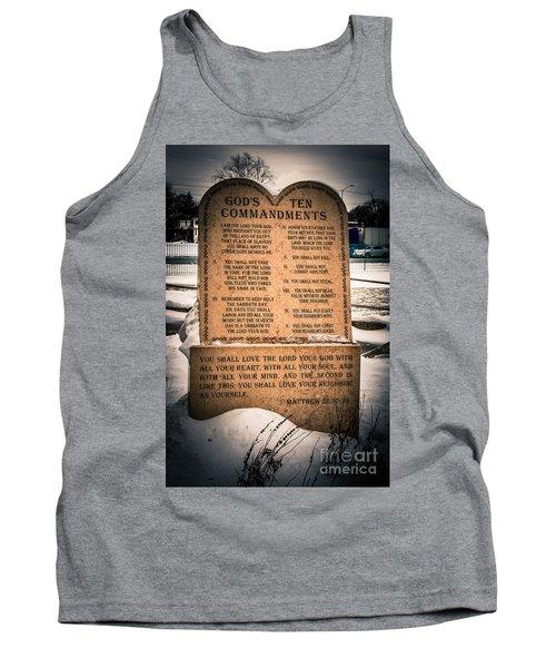 God's Ten Commandments Tank Top
