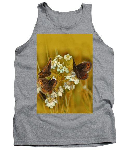 Gold And Brown Tank Top by Jacqi Elmslie