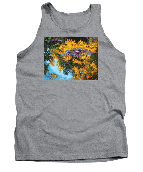 Gold Reflections Tank Top by John Lautermilch