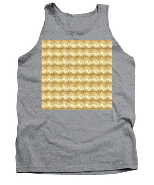 Gold Sparkle Tone Pattern Unique Graphics Tank Top by Navin Joshi