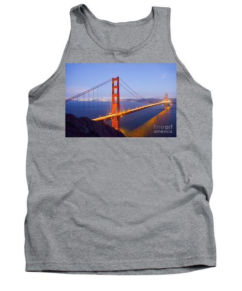Golden Gate Bridge At Dusk Tank Top