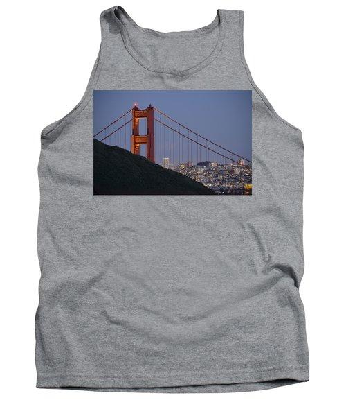 Golden Gate Bridge At Dusk Tank Top