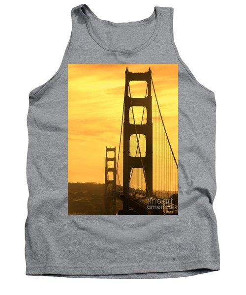 Golden Gate Bridge  Tank Top by Clare Bevan
