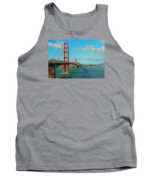 Golden Gate Bridge Tank Top by Emmy Marie Vickers