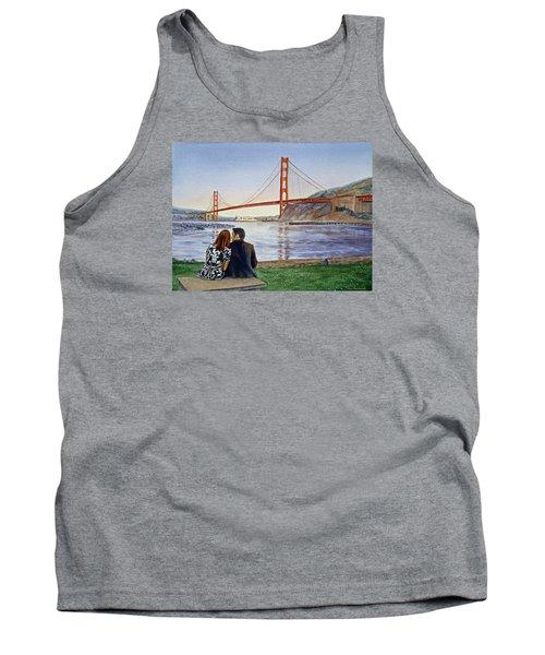 Golden Gate Bridge San Francisco - Two Love Birds Tank Top