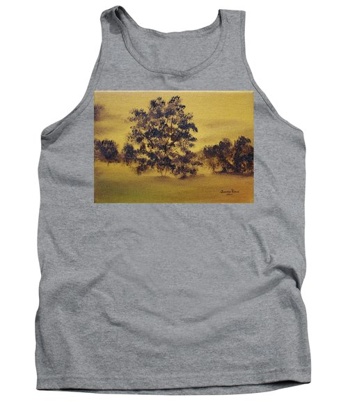 Golden Landscape Tank Top by Judith Rhue