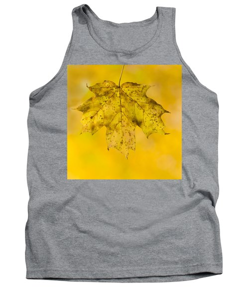 Golden Maple Leaf Tank Top by Sebastian Musial