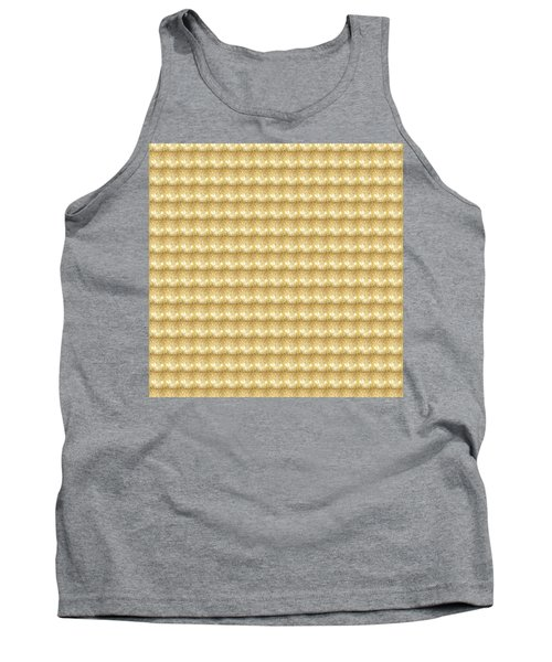 Tank Top featuring the photograph Golden Sparkle Tone Pattern Unique Graphic V2 by Navin Joshi
