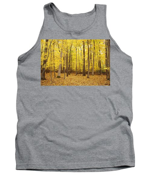 Golden Woods Tank Top by Aimee L Maher Photography and Art Visit ALMGallerydotcom