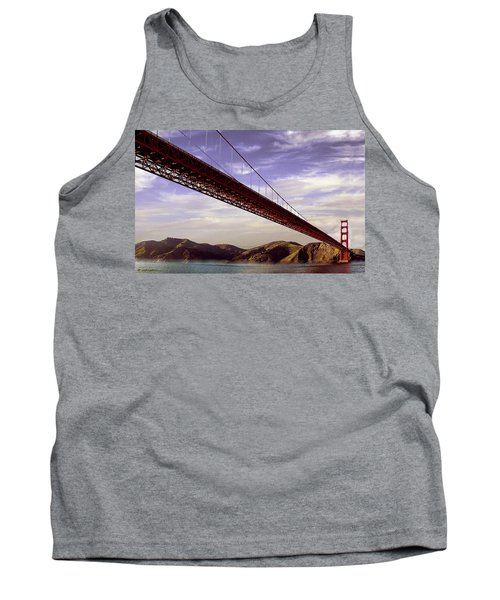 Goldengate Bridge San Francisco Tank Top by Bob and Nadine Johnston