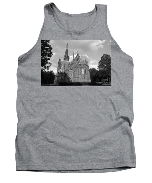 Gothic Church In Black And White Tank Top by John Telfer