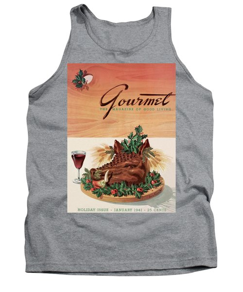 Gourmet Cover Featuring A Boar's Head Tank Top