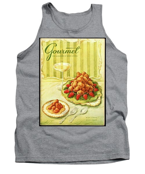 Gourmet Cover Featuring A Plate Of Beignets Tank Top