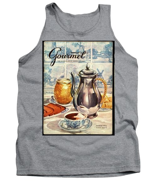 Gourmet Cover Featuring An Illustration Tank Top