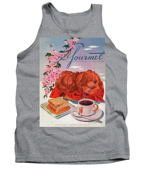 Gourmet Cover Illustration Of A Basket Of Popovers Tank Top