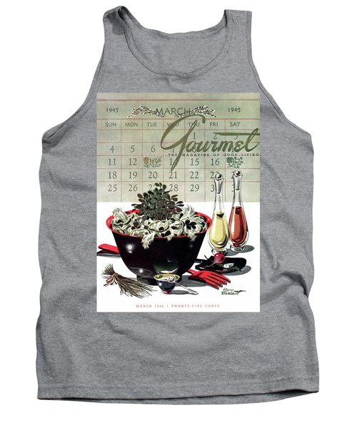 Gourmet Cover Illustration Of A Bowl Of Salad Tank Top