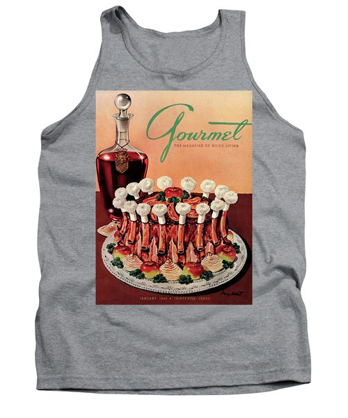 Gourmet Cover Illustration Of A Crown Roast Tank Top