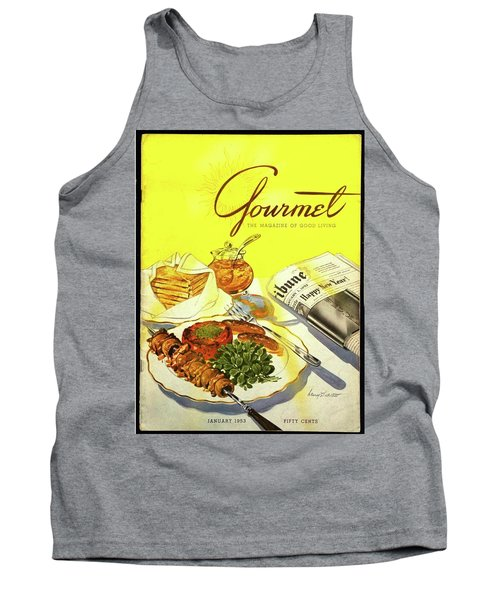 Gourmet Cover Illustration Of Grilled Breakfast Tank Top