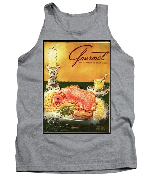 Gourmet Cover Illustration Of Salmon Mousse Tank Top