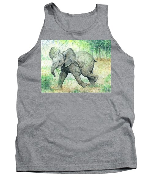 Tank Top featuring the painting Grabbing A Snack by Barbara Jewell