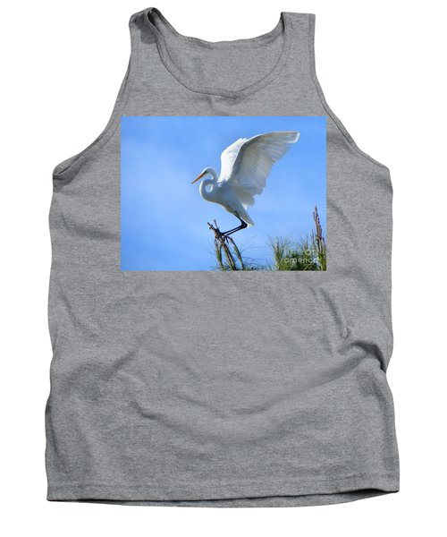 Tank Top featuring the photograph Graceful Landing by Deb Halloran