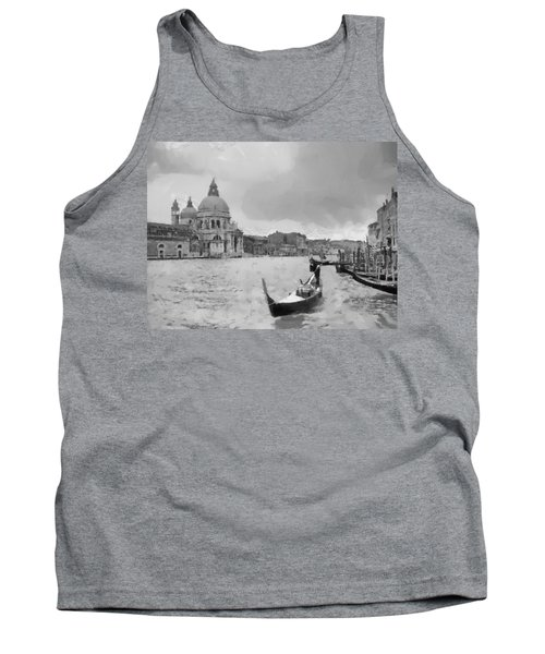 Tank Top featuring the painting Grand Canal Venice Italy by Georgi Dimitrov
