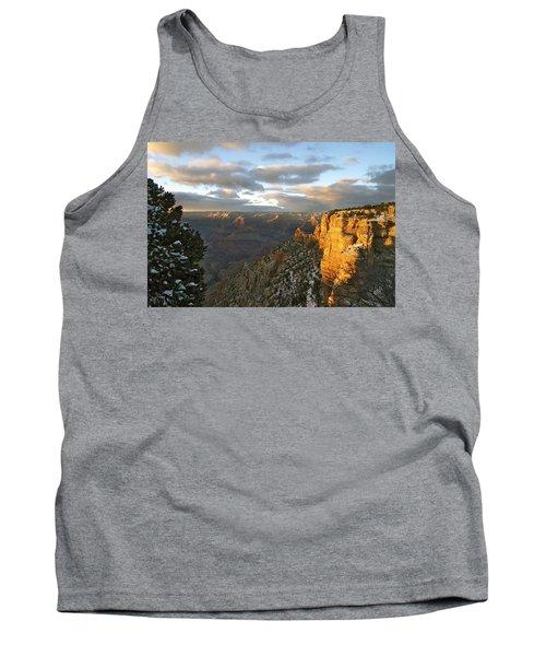 Grand Canyon. Winter Sunset Tank Top by Ben and Raisa Gertsberg