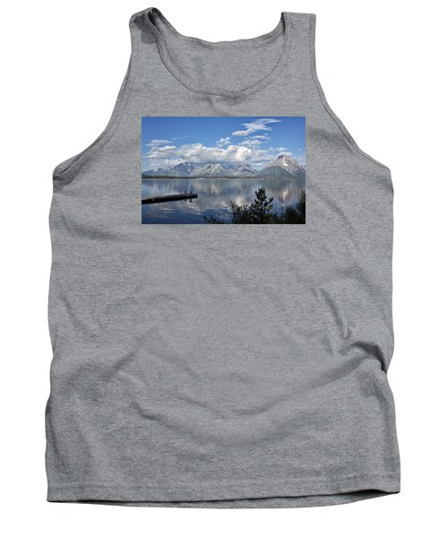 Tank Top featuring the photograph Grand Tetons In The Morning Light by Belinda Greb