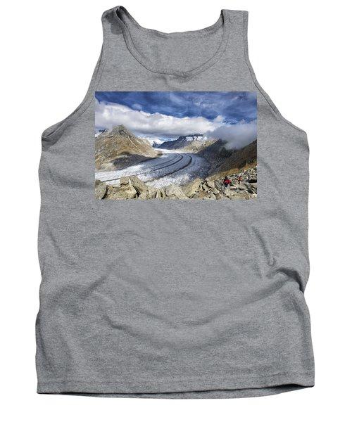 Great Aletsch Glacier Swiss Alps Switzerland Europe Tank Top by Matthias Hauser