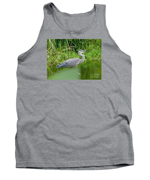 Tank Top featuring the photograph Great Blue Heron  by Susan Garren