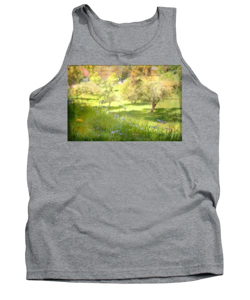 Tank Top featuring the photograph Green Spring Meadow With Flowers by Brooke T Ryan