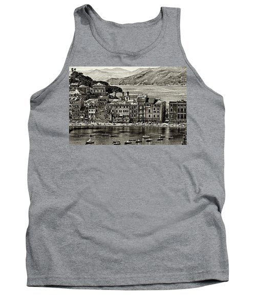 Grunge Seascape Tank Top