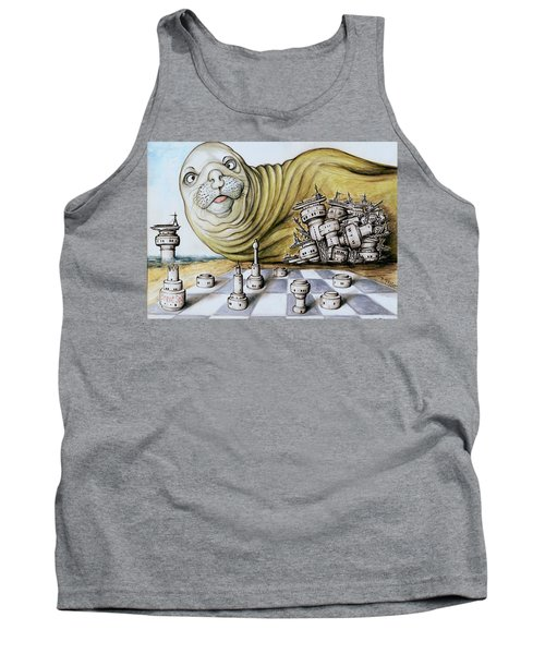 Gulf Coast Chess - Cartoon Art Tank Top