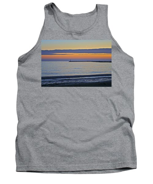 Half Moon Bay Under The Moon At Sunset Tank Top